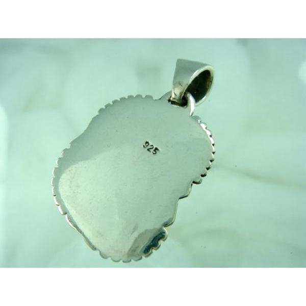 シルバー925 いびつな形がかわいらしい青い石付きペンダントトップ  silver925 シルバーアクセサリー シルバー製 ペンダントヘッド メンズ|laplateriashu|04
