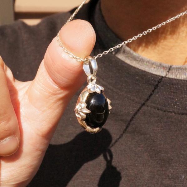 1点物 天然石 シルバー925 ペンダントヘッド ペンダントトップ オニキス フレアクロス silver925