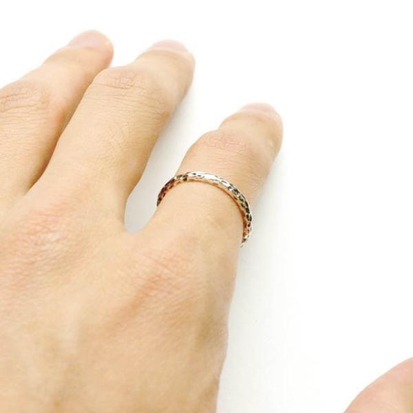 シルバー925 メンズ レディース リング シンプル 表面の凹凸が独特な細身の指輪|laplateriashu|03