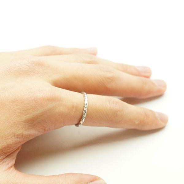 シルバー925 メンズ レディース リング シンプル 表面の凹凸が独特な細身の指輪|laplateriashu|04