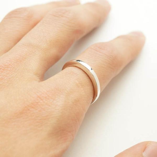 シルバー925 メンズ レディース リング シンプル 三日月のようなフォルムがキレイな指輪