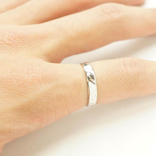 シルバー925 メンズ レディース リング シンプル カットデザインがキレイに輝く指輪 silver925 シルバーアクセサリー|laplateriashu|03