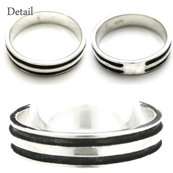 シルバー925 メンズ レディース リング シンプル 2本のラインが彫られた指輪 silver925 シルバーアクセサリー|laplateriashu|02