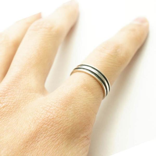 シルバー925 メンズ レディース リング シンプル 2本のラインが彫られた指輪 silver925 シルバーアクセサリー|laplateriashu|03