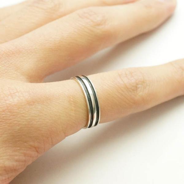 シルバー925 メンズ レディース リング シンプル 2本のラインが彫られた指輪 silver925 シルバーアクセサリー|laplateriashu|04
