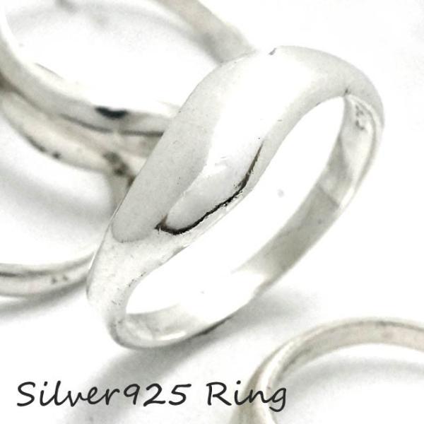 シルバー925 メンズ レディース リング シンプル 緩やかな曲線がオシャレな指輪 silver925 シルバーアクセサリー|laplateriashu