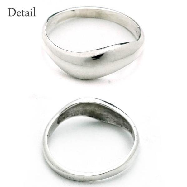 シルバー925 メンズ レディース リング シンプル 緩やかな曲線がオシャレな指輪 silver925 シルバーアクセサリー|laplateriashu|02