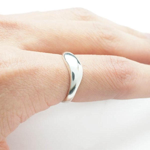 シルバー925 メンズ レディース リング シンプル 緩やかな曲線がオシャレな指輪 silver925 シルバーアクセサリー|laplateriashu|03