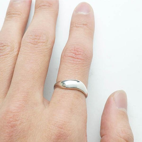 シルバー925 メンズ レディース リング シンプル 緩やかな曲線がオシャレな指輪 silver925 シルバーアクセサリー|laplateriashu|04