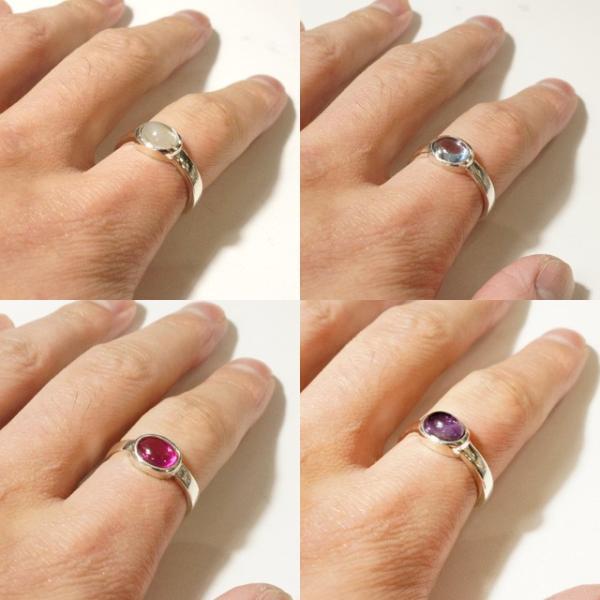 リング 指輪 シルバー925 メンズ レディース 天然石 一粒アゲートリング|laplateriashu|03