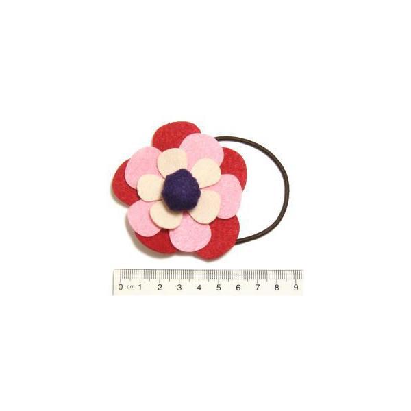 元気カラーフェルトフラワーのお花ヘアゴム フラワー ヘアアクセサリー|laplateriashu|04