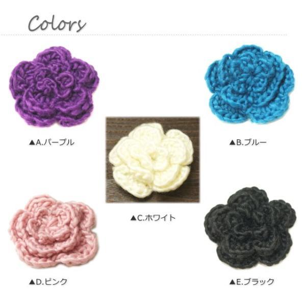 柔らかい毛糸素材のお花のブローチ|laplateriashu|02