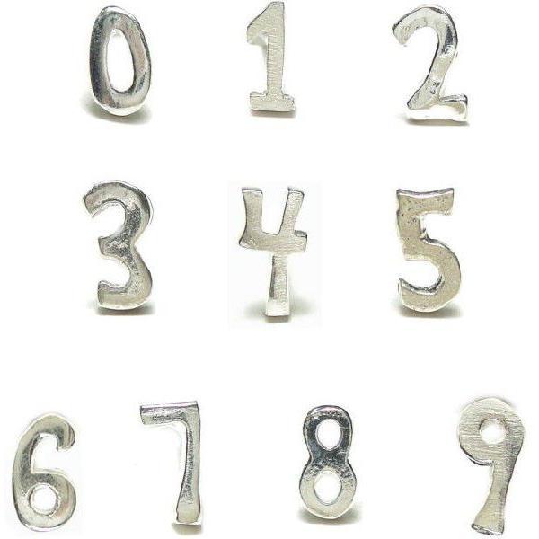 シルバーピアス レディース ラッキーナンバー 数字 スタッドピアス ※バラ売り a442-a451(a-13-5)|laplateriashu|02