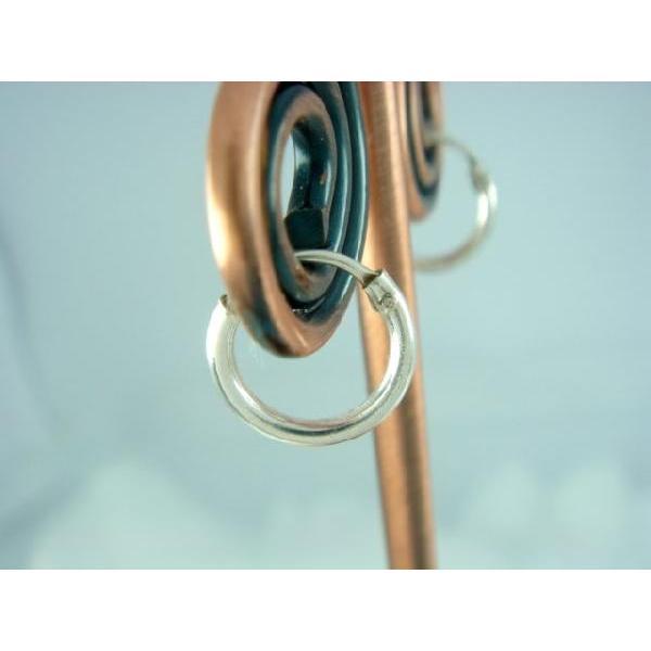 シルバーピアス レディース シンプルな定番のフープピアス プレーンフープ(S) 8mm ピアスリング c001(c-1-1)|laplateriashu|02