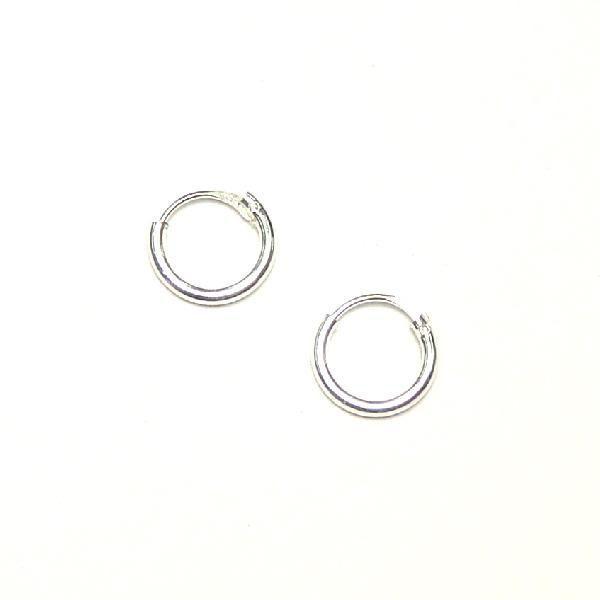 シルバーピアス レディース シンプルな定番のフープピアス プレーンフープ(S) 8mm ピアスリング c001(c-1-1)|laplateriashu|05