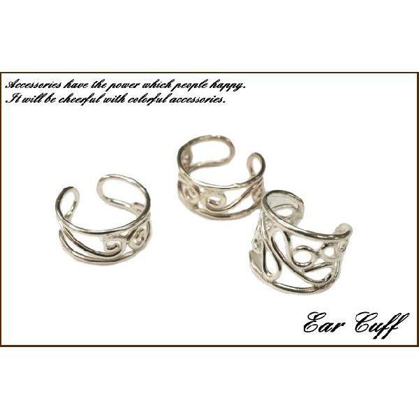 イヤーカフ 片耳用 バラ売り シルバー925 可愛さも漂うくるっとしたデザインのイヤーカフ|laplateriashu|02