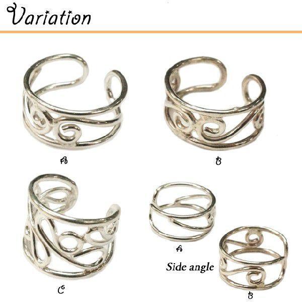 イヤーカフ 片耳用 バラ売り シルバー925 可愛さも漂うくるっとしたデザインのイヤーカフ|laplateriashu|03