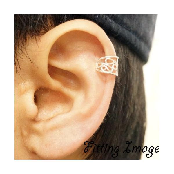 イヤーカフ 片耳用 バラ売り シルバー925 可愛さも漂うくるっとしたデザインのイヤーカフ|laplateriashu|04