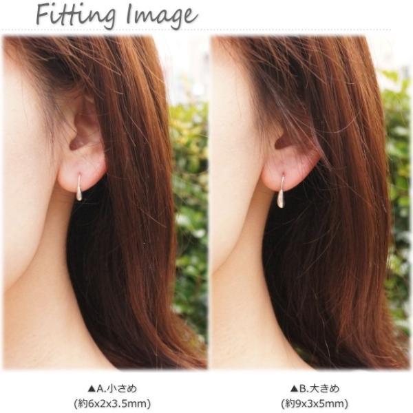 シルバーピアス レディース 小さなぷっくりが耳元からちょこん ぷっくりシンプルサガリピアス(f-3-7) |laplateriashu|03