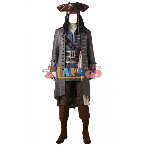 ジャック・スパロウ パイレーツ・オブ・カリビアン/最後の海賊 コスプレ衣装+ブーツ