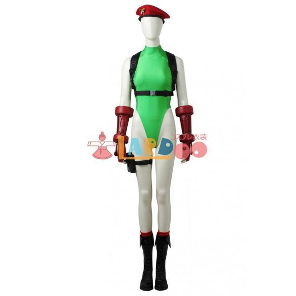 ストリートファイターV キャミィ・ホワイト コスプレ衣装+ブーツ+帽子