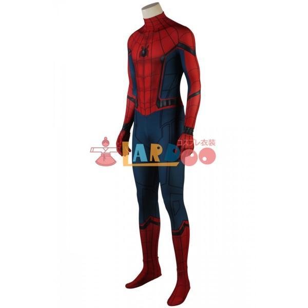 スパイダーマン:ホームカミング ピーター・パーカー 修正版 Spider-Man コスプレ衣装 コスチューム コスプレ 仮装 cosplay|lardoo-store|02