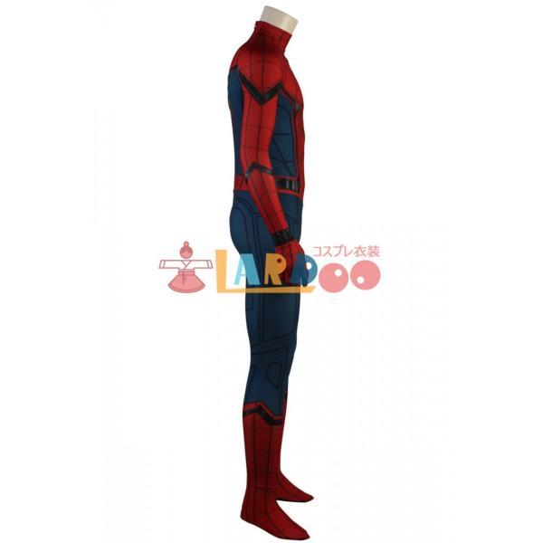 スパイダーマン:ホームカミング ピーター・パーカー 修正版 Spider-Man コスプレ衣装 コスチューム コスプレ 仮装 cosplay|lardoo-store|03