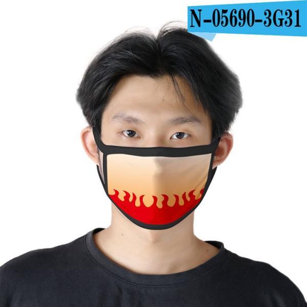 鬼滅の刃 マスク 子供用/大人用 夏マスク 冷感マスク 4点セット Face Mask 洗える コスプレマスク コスプレグッズ lardoo-store 04