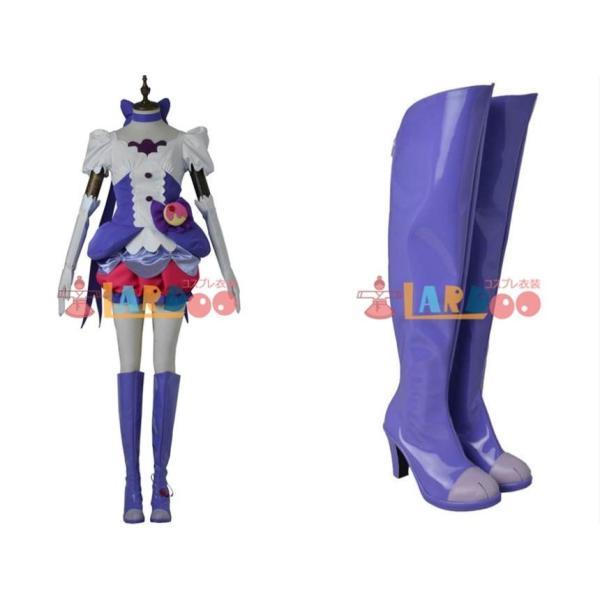 キラキラ プリキュアアラモード キュアマカロン コスプレ衣装+ハイヒール