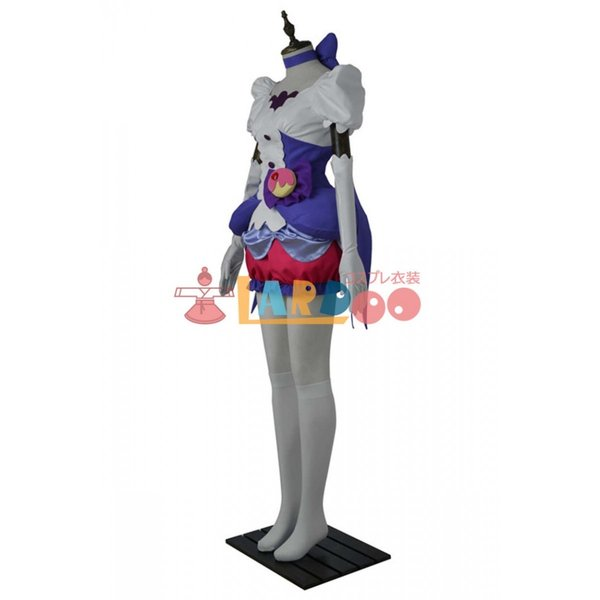 キラキラ プリキュアアラモード キュアマカロン コスプレ衣装+ハイヒール|lardoo-store|04