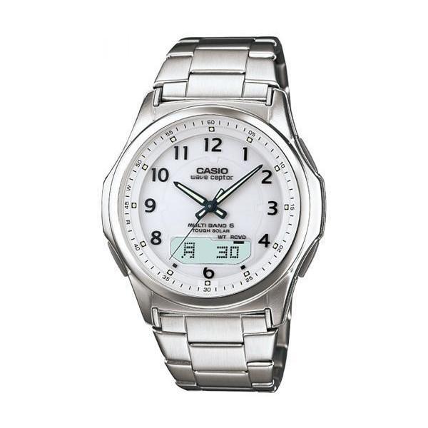 カシオWVA-M630D-7AJF腕時計ウェーブセプター電波ソーラーシルバーCASIO