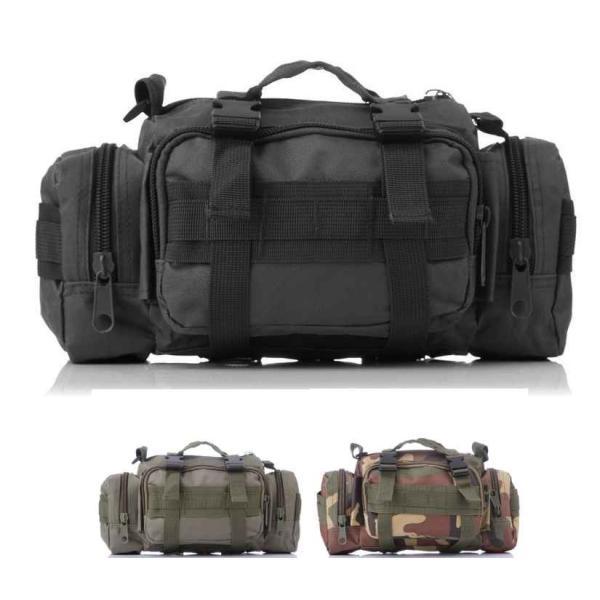 ミリタリーバッグ アーミーバッグ 防水 ショルダーバッグ、ウェストバッグ、メッセンジャーバッグ、手提げの4WAY|lassana