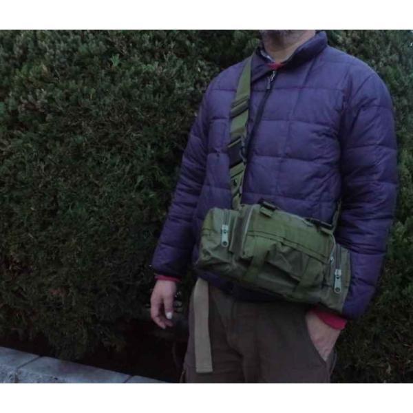 ミリタリーバッグ アーミーバッグ 防水 ショルダーバッグ、ウェストバッグ、メッセンジャーバッグ、手提げの4WAY|lassana|12
