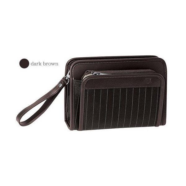 豊岡製鞄 カバン セカンドバッグ ヘリンボン織りストライプの三角ポーチ|lassana|02