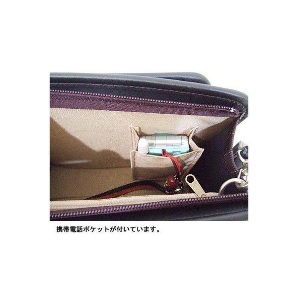 豊岡製鞄 カバン セカンドバッグ ヘリンボン織りストライプの三角ポーチ|lassana|05