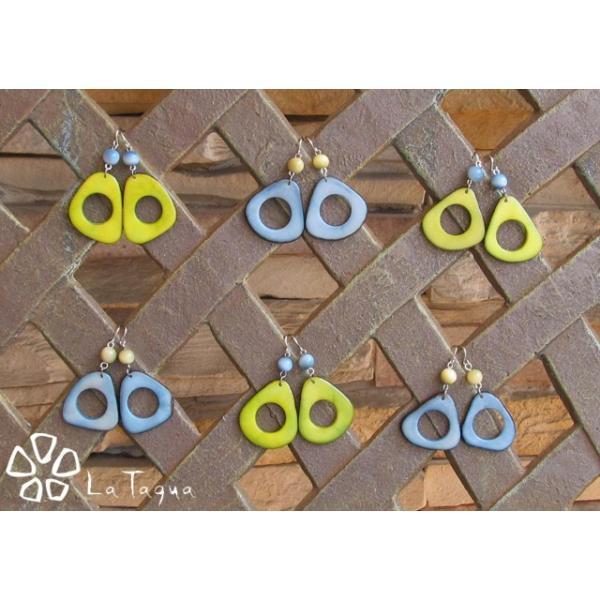 LT-SP2016 タグア ピアス/イヤリング 限定フープ、 ピアスはキャッチ付き Tagua Earrings Hoop|lataguab