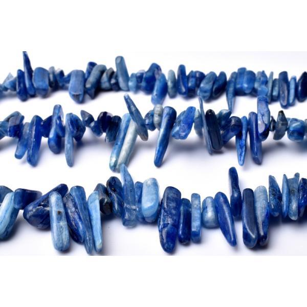 カイヤナイト さざれ 3x12-5x21mm 1連(約38cm)_RG284