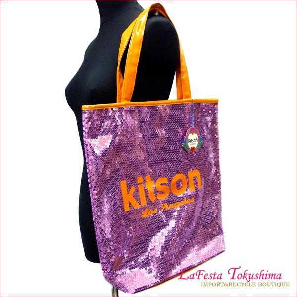 0744d75366ad 未使用 Kitson キットソン スパンコール トートバッグ (パープル+オレンジ)| ...