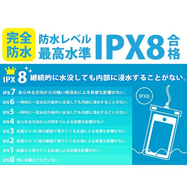 iPhone 6 6s 5S スマホ 防水ケース IPx8 完全防水|lauda|06