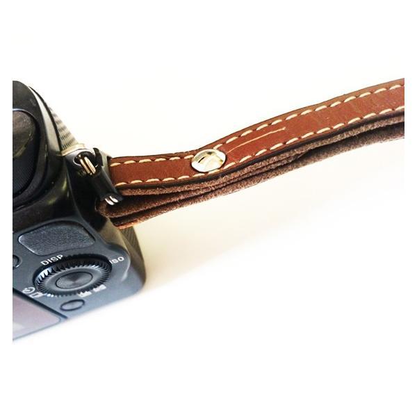 【お買い得商品!ミラーレスカメラ用】本革SLIMリストストラップ ブラウン/チョコ/ベージュ