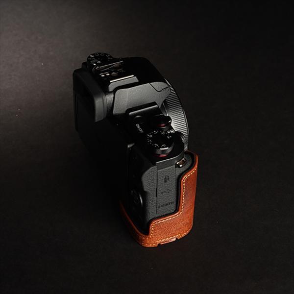 TP Original Canon PowerShot G1 X Mark III 用 ボディーハーフケース ブラウン [国内正規品]