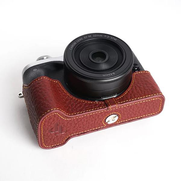 TP Original Canon EOS M6 用 ボディーハーフケース ブラウン [国内正規品]