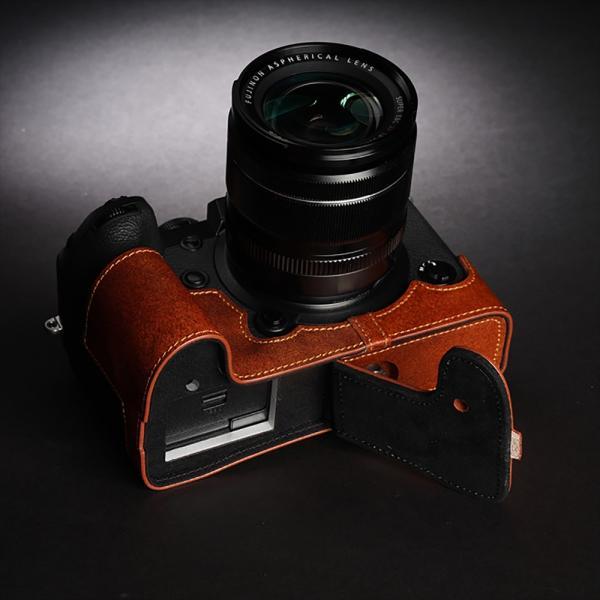 TP Original FUJIFILM X-H1 用 ボディーハーフケース ブラウン [国内正規品]