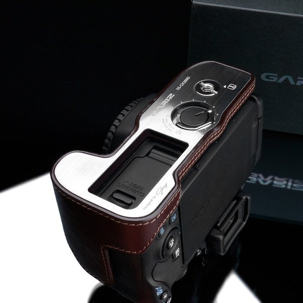 GARIZ/ゲリズ Canon EOS Kiss X9用 本革カメラケース XS-CH200DBR ブラウン