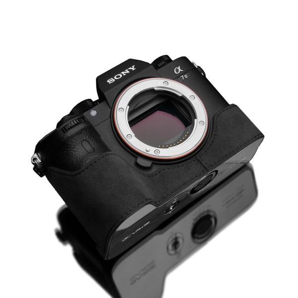 GARIZ/ゲリズ SONY α9/α7R III/α7 III 兼用 Alcantara カメラケース XS-CHA7M3CG チャコールグレー