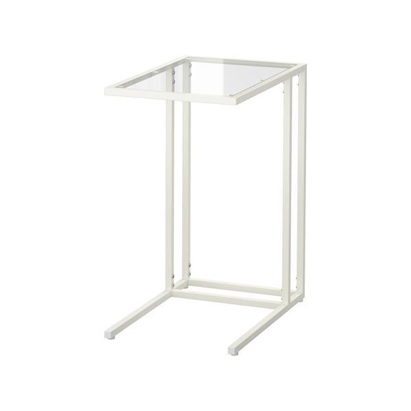 IKEAラップトップスタンドVITTSJOホワイト,ガラス¥750代引き可