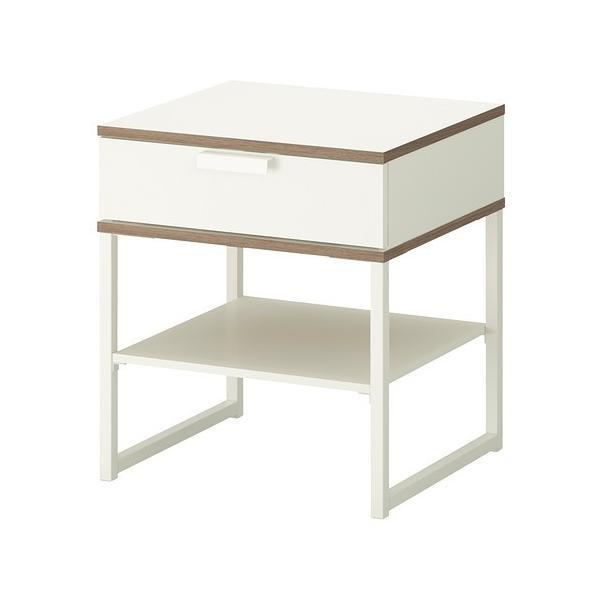 IKEAベッドサイドテーブルTRYSILホワイト,ライトグレー¥750代引き可