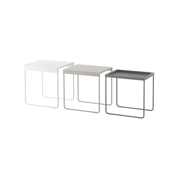 IKEAネストテーブル3点セットGRANBODA¥750代引き可