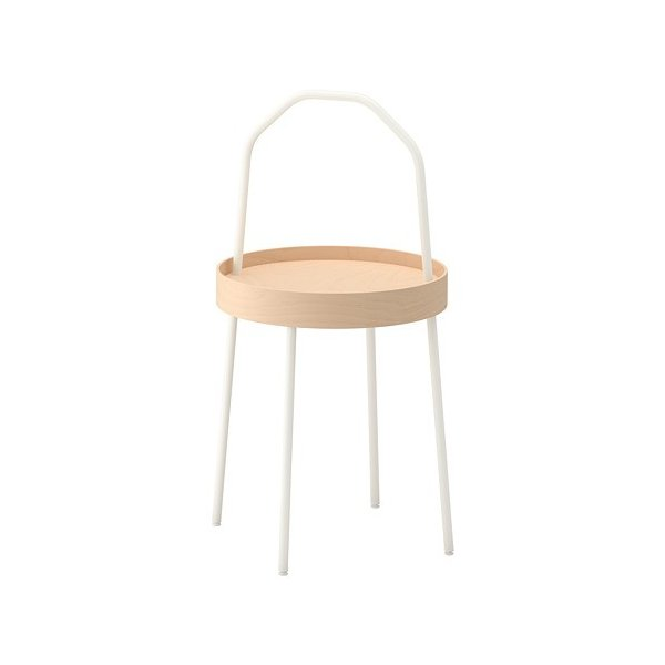 IKEAサイドテーブルBURVIKホワイト送料¥750!代引き可