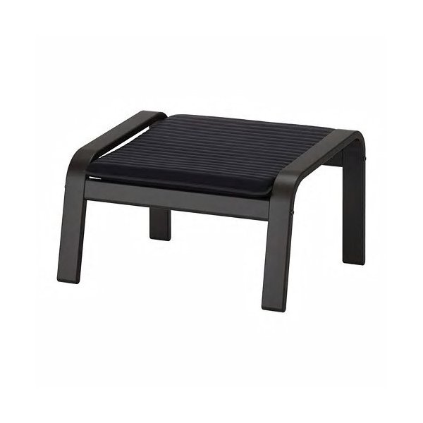 IKEAフットスツールPOANG ブラックブラウン, クニーサ ブラック送料¥750!代引き可